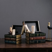 假書擺件 復古仿真書假書擺件裝飾品美式書柜書架家居創意酒柜書房柜子擺設-三山一舍