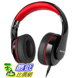[104美國直購] Sentey Warp Stereo Headphone 3.5mm Connector High Desfinition (Black/Red) GS-4420