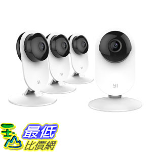 YI 4pc Home Camera, IP Security Surveillance System with Night Vision for Home, Office