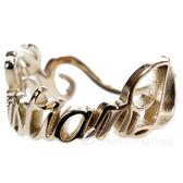 DIOR 品牌字母草寫設計戒指(金色) 1340472-24