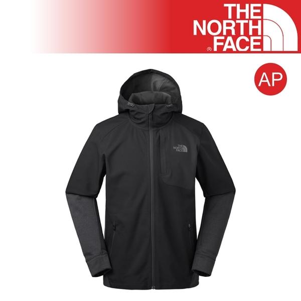 【The North Face AP 男 防風防潑保暖外套《黑》】3RG1/兜帽外套/防風/運動/休閒