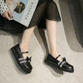 洛麗塔ins小皮鞋女新款日系可愛淺口蕾絲蝴蝶結軟妹lolita娃娃鞋 黛尼時尚精品