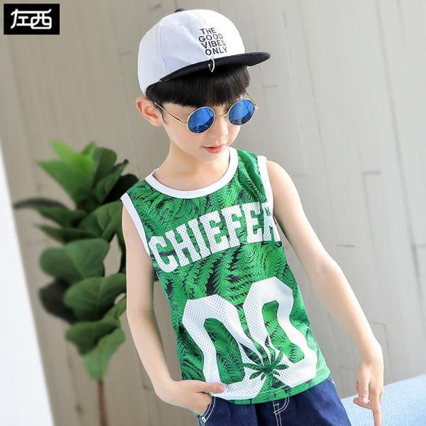 男童背心 夏季兒童無袖T恤男孩