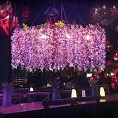 吊燈 紫藤蔓植物音樂餐廳網紅店鋪裝飾酒吧烤吧咖啡廳 現貨快出YJT