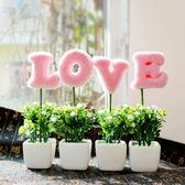仿真盆栽 家居現代假花仿真花卉小盆景綠植物盆栽裝飾品工藝品迷你擺件創意