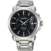【5年保固卡】SEIKO 精工 Premier 紳士萬年曆手錶-銀/41.5mm 6A32-00Z0D(SNQ159J1)