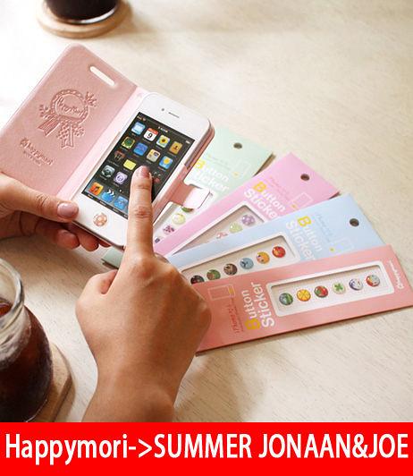 【韓國原裝 Happymori】※iPhone Home Button Sticker ※  iPhone Home Button 4type(預購)