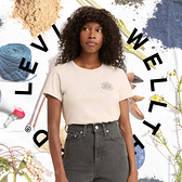 Levis Wellthread環境友善系列 女款 短袖T恤 / 有機面料 / 天然染色工藝