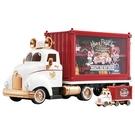 迪士尼小汽車 10週年貨櫃收納車(附小車...