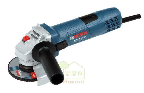 """家事達 ] BOSCH-GWS 7-100 手持式平面砂輪機4""""-可調速功能~"""