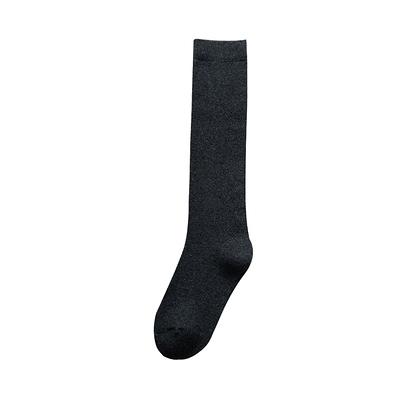 襪子 長襪子女中筒襪冬季加厚加絨保暖毛巾襪高筒冬天長款小腿襪長筒襪