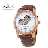 【INVICTA】紳士機械腕錶 44mm-咖啡
