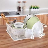 賀里GULEK  小清新鐵藝廚房碗盤架子瀝水籃置物架碗筷餐具收納架吾本良品