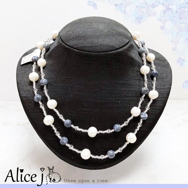 日本原裝✈氣質貴婦款淡珍珠項鍊
