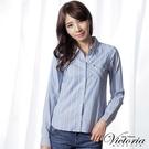◆ 商品貨號:V15047-56  ◆ 儉約的條紋襯衫,休閒正式都好搭!◆【商品只退不換】