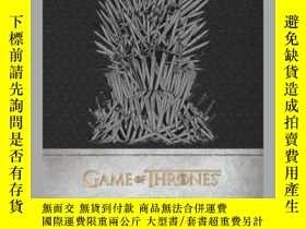 二手書博民逛書店Game罕見of Thrones: Iron Throne Hardcover Ruled JournalY4