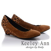 ★零碼出清★Keeley Ann率性嬉皮~拼接馬毛設計楔型跟鞋(棕色)
