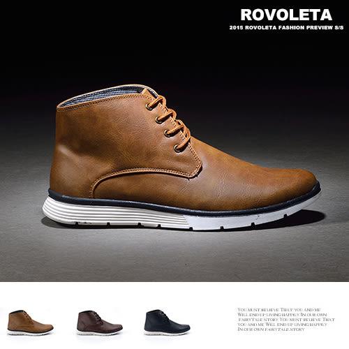 仿皮革質感鞋【LU-T-735】(ROVOLETA)