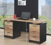 【新北大】✪  G367-2 尼克森5尺厚切木紋電腦書桌 -18購