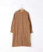 出清 法蘭絨格紋襯衫 長洋裝 印地安棉  日本品牌【coen】