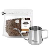 CoFeel 凱飛鮮烘豆哥斯大黎加牧童莊園中烘焙咖啡豆半磅+魔法瓶咖啡手沖細嘴壺(SO0065M)