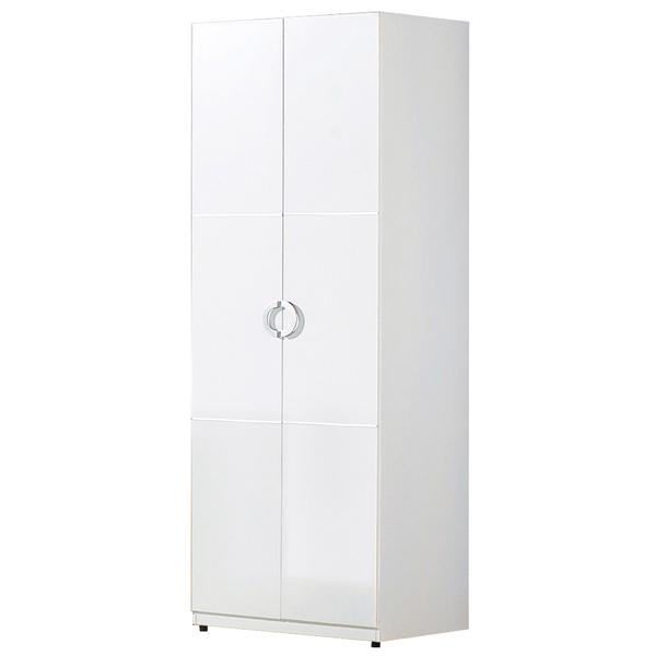 【森可家居】凱倫2.3尺白色雙吊衣櫃 7JF068-1衣櫥 簡約 MIT台灣製造