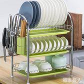 兩層廚房置物架 收納架家用落地瀝水架碗碟架三層碗架碗盤儲物神器 XN1122【極致男人】