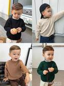童裝兒童長袖秋裝男童半高領打底毛衣套頭百搭寶寶針織衫     時尚教主