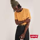 Levis 男款 短袖T恤 / 全一色刺繡Serif Logo / 芥末黃 / 220GSM厚棉