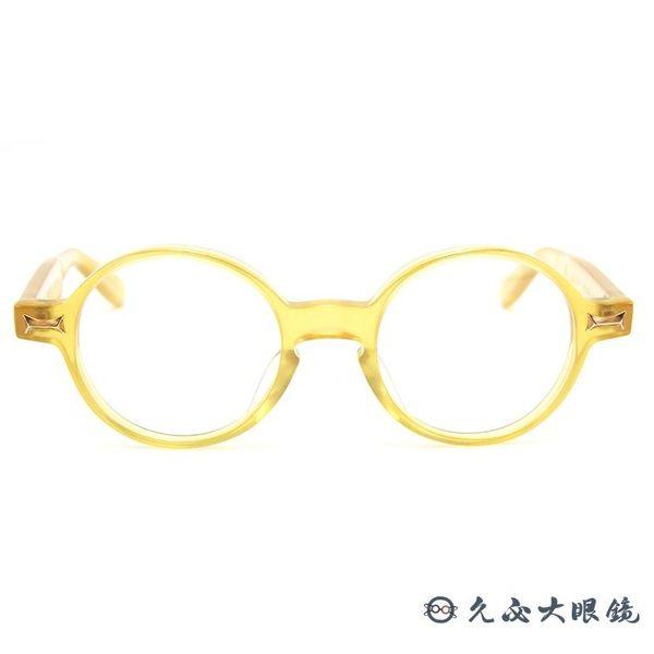 金子眼鏡 日本手工眼鏡 賽璐珞 波士頓圓框 近視鏡框 KCG-05 YL #透黃