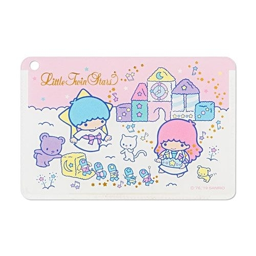 【震撼精品百貨】Little Twin Stars KiKi&LaLa~Sanrio 雙星仙子日本製燙金鑲飾卡片套(快樂玩具盒)#66240