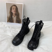 王小兔 韓版ins夏季薄款馬丁靴新款涼靴女鞋鏤空網紗透氣網靴快速出貨