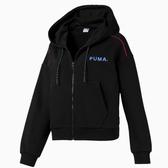 PUMA Cropped Full 女裝 外套 連帽 慢跑 休閒 短版 黑【運動世界】 59574456