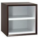 【藝匠】魔術方塊胡桃色小棚板櫃收納櫃 家具 組合櫃 廚具 收藏 置物櫃 櫃子 小櫃子