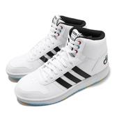adidas 休閒鞋 Hoops Mid 2.0 白 中筒 女鞋 童鞋 寶可夢 神奇寶貝 小白鞋【PUMP306】 EG1989
