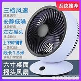 日本辦公室桌面搖頭風扇迷你學生宿舍空氣循環扇靜音6寸usb小風扇 居家物语