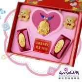 999.9黃金彌月音樂禮盒 寶貝天使三件組2分-GP00021-2-FEX