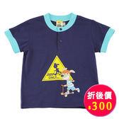 【愛的世界】純棉圓領前扣撞色短袖T恤/2~4歲-台灣製- ★春夏上著