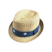 全館83折夏天寶寶兒童草帽遮陽防曬漁夫帽涼帽小男童1-3歲夏季2帽子薄款潮