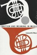 二手書博民逛書店 《Emotion and Meaning in Music》 R2Y ISBN:0226521397│University of Chicago Press