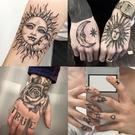 紋身貼暗黑系防水持久男女骷髏手背系列手指炫酷花臂ins風永久1年 快速出貨