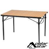 Polar Star 竹紋鋁捲桌 P17738 露營.登山.戶外.野餐桌.折合桌.摺疊桌.桌椅.蛋捲桌.鋁.輕便