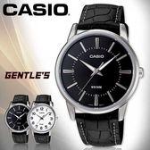 CASIO手錶專賣店 卡西歐  MTP-1303L-1A 男錶 黑面丁字 指針 數字 防水50米 礦物玻璃 真皮錶帶