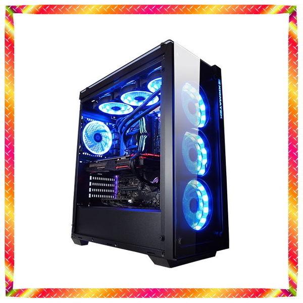 華碩 Z390 九代 i9-9900KF RGB水冷 GTX1660 Ti 超顯 全透測鋼化玻璃機殼
