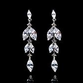 耳環 925純銀 鑲鑽-獨特精緻生日情人節禮物女飾品2色73hz6【時尚巴黎】