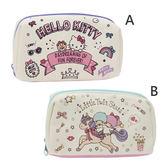 【KP】Hello Kitty 雙子星 帆布化妝包 三麗鷗 多用途 小物 收納包 正版日本進口授權 DTT0522239