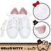 🎀附緞帶🎀 HELLO KITTY X Ann'S達利2way蝴蝶結真皮休閒鞋-白