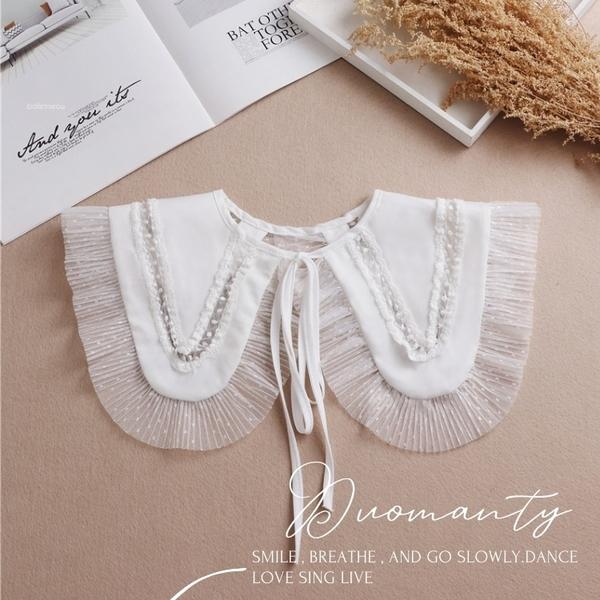 假領片。新品。甜美綁帶款假領子 洋裝超好搭[AW50461]。預購。朵曼堤洋行