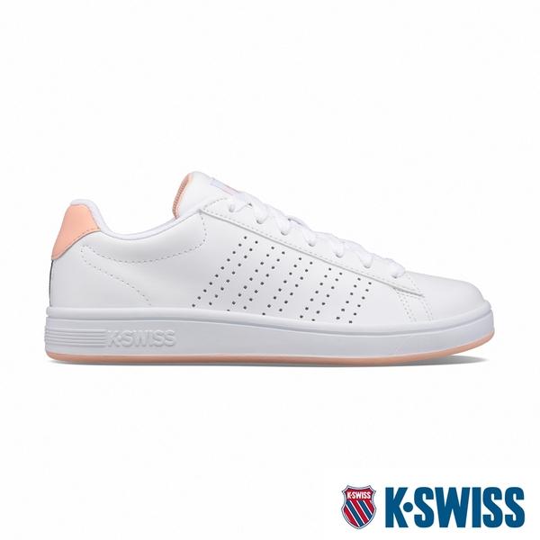 K-SWISS Court Casper時尚運動鞋-女-白/蜜桃橘