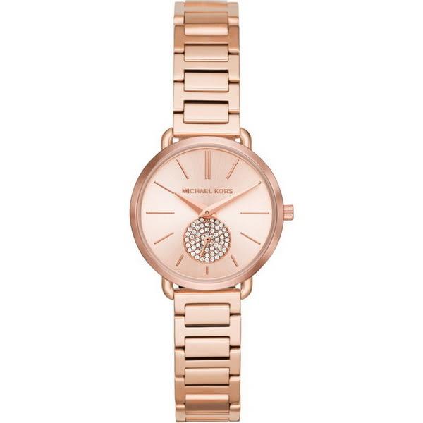 【台南 時代鐘錶 Michael Kors】MK3839 典雅氣質璀璨晶鑽腕錶 玫瑰金 28mm 公司貨開發票